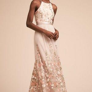 BHLDN Shannon Floral Dress in Blush